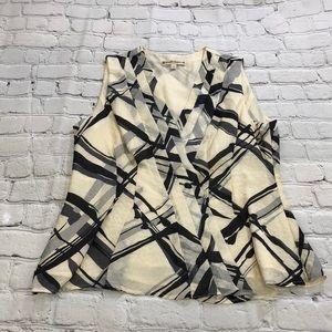 Nanette Lepore Silk Cream Blouse Top